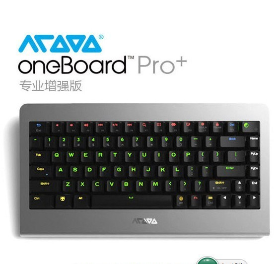 Mechanical Keyboard Acooo OneBoard PRO+ Android TV BOX Host RK3288 2GB+16GB Mali-T764 4K USB OTG MicroSD Bluetooth Wi-Fi HDMI