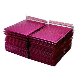 Image 4 - 50 sztuk/partia złocenie papierowe koperty bąbelkowe torby Mailers wyściełane koperty wysyłkowe z bąbelkową torbą pocztową