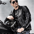 Men Crocodile Style Leather Brand Motorcycle Jacket Men Fashion Slim Fit Jacket Men Coats Men High Quality Lather Jacket 139