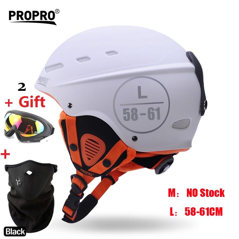 Moon-casco de esquí para hombre y mujer, para otoño e invierno, monoboard, equipo de esquí flanchard, cascos económicos para deportes de nieve, 2 regalos