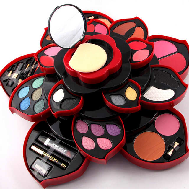 2 Option Newest Professional 46 Full Colors Make Up Kit Blush Eyeliner Lipstick Collection MakeUp Palette 3D Collection For Gift