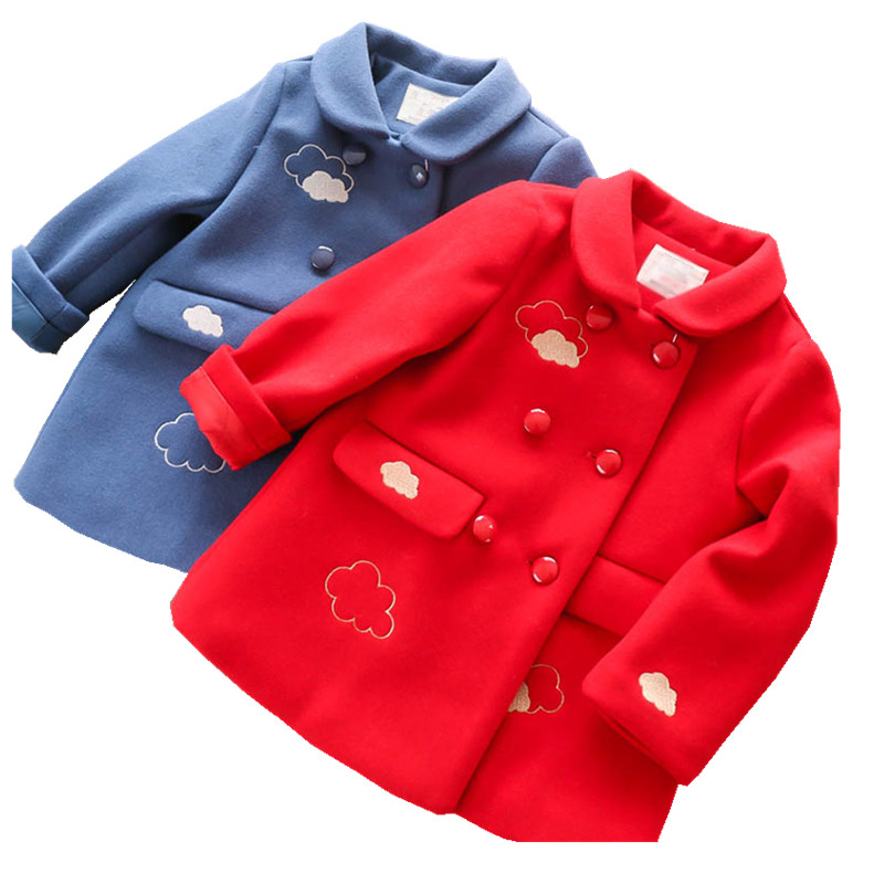 532474087 Autumn 2018 Winter toddler girl wool coat for girls coat children's Jacket for Girl Jacket baby girl clothes baby girls autumn winter wool jackets 2018 double breasted toddler girl suit jacket small plaid long section girls trench coat