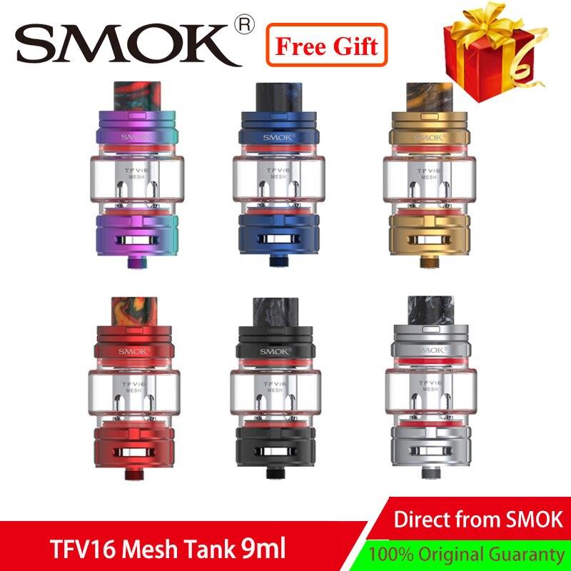 Newest Vaporizer Atomizer SMOK TFV16 Mesh Vape tank fit Mesh Coil Top refill vape Mesh tank for 510 E Cigarette box mod
