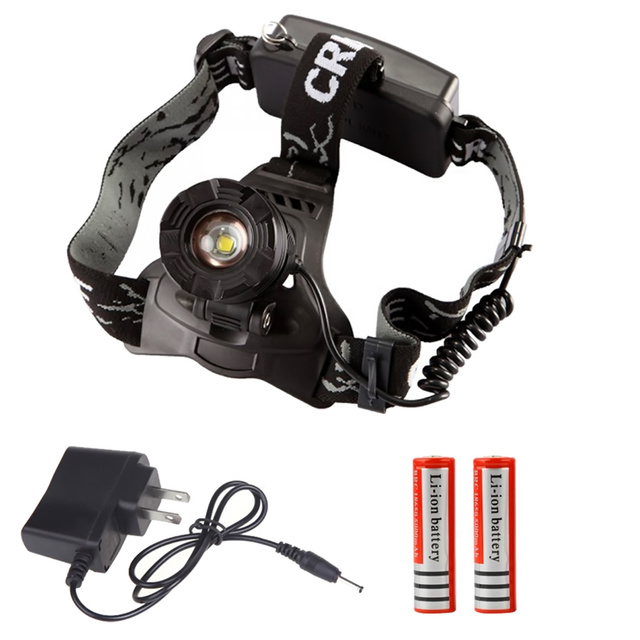 Waterproof Headlight CREE XML T6 LED Headlamp 18650 Battery Powered Head Lamp Torch LED Flashlights Torch for Hunting Fishing