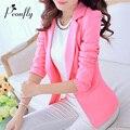 Women Blazers And Jackets Suit Fashion Single Button Blaser Female White/Black/Pink/Blue Ladies Blazer Femme 2016 Spring Autumn
