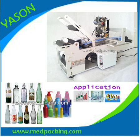 Semi-automatic labeling machine with date code printer for flat bottle labeling machine GRINDING yl 360 semi automatic manual marking machine aluminum labeling coding machine equipment parameter label printer