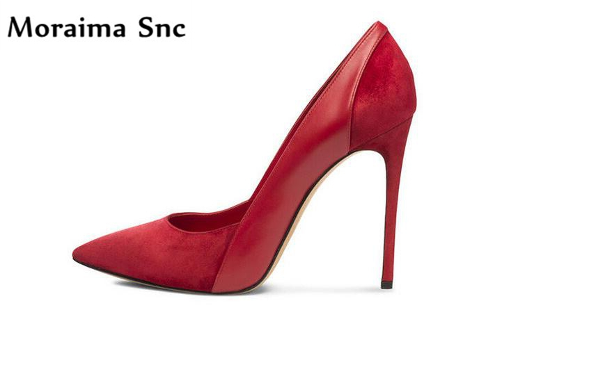 купить Moraima Snc Pointed toe thin high heels shallow slip-on women pumps vintage velvet 2018 Newest handmade sexy women party shoes по цене 5264.37 рублей