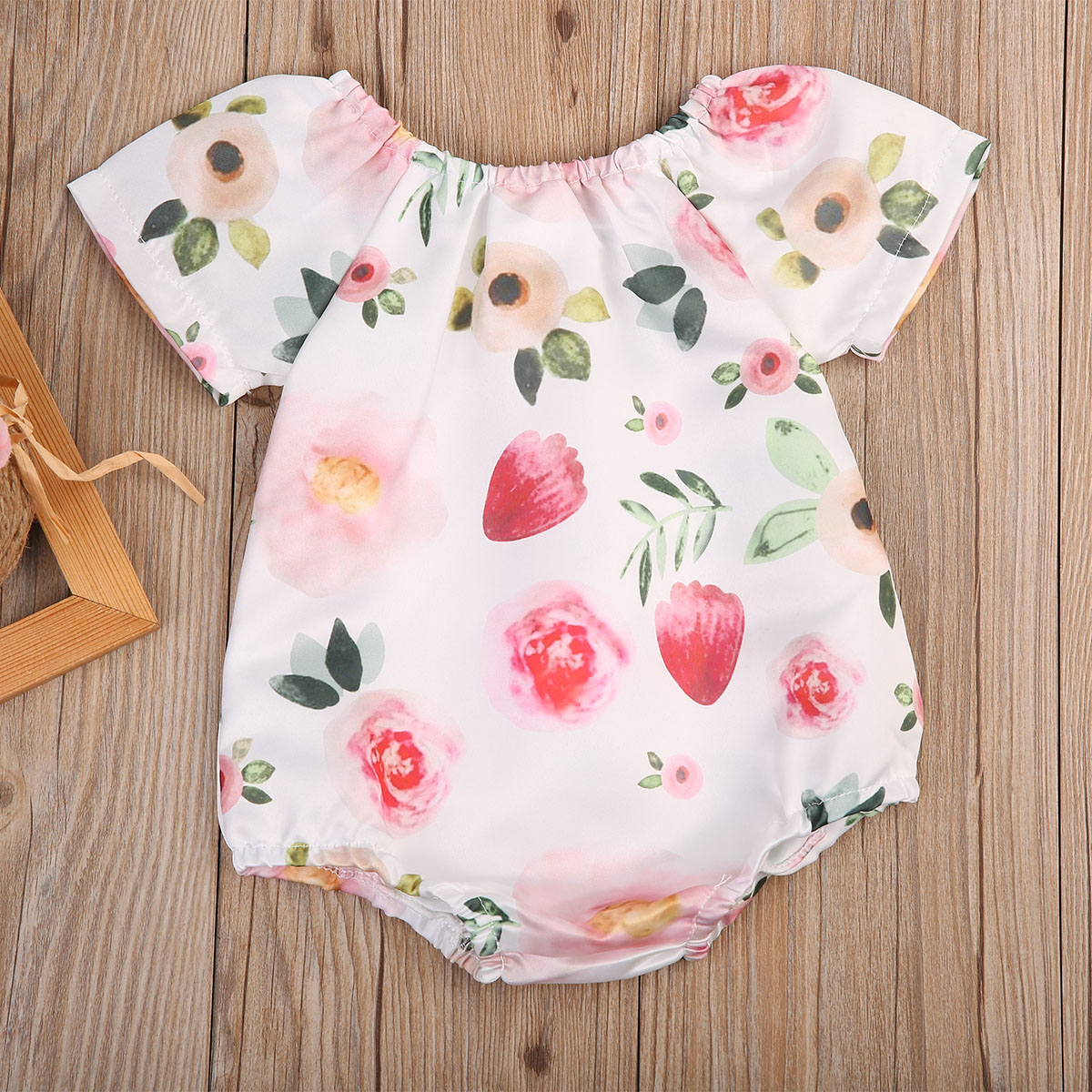 Adorable Infant Baby Girl Floral Rompers Jumpsuit Outfit Sunsuit Clothes
