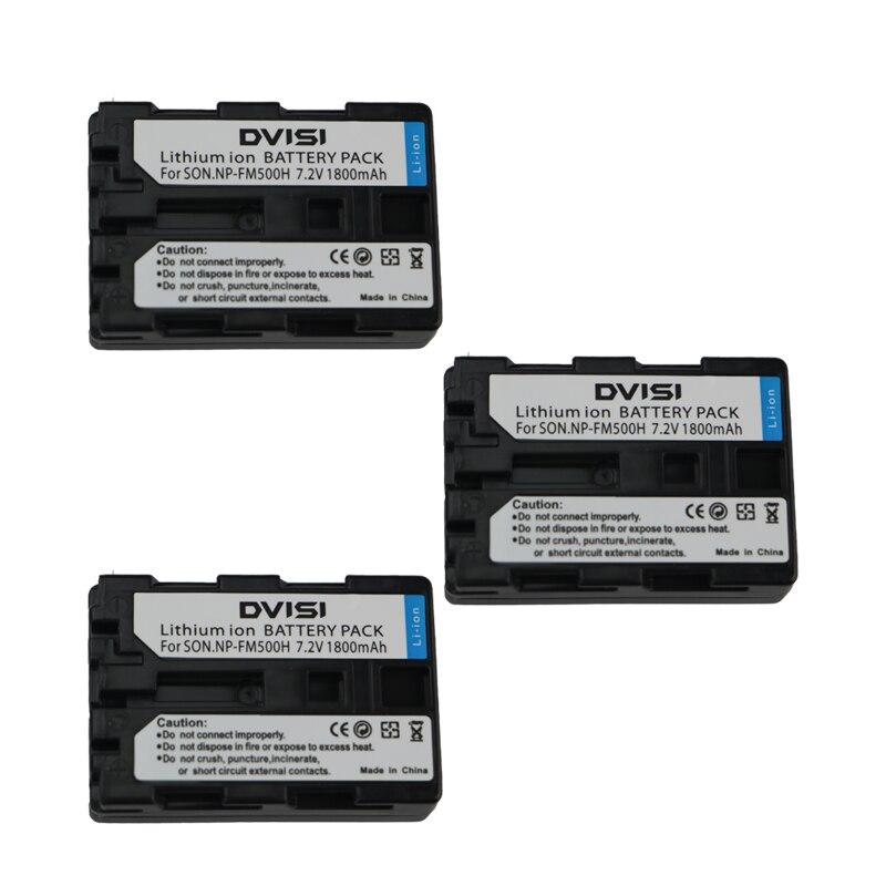 3Pc/lot NP-FM500H NP FM500H NPFM500H Rechargeable Battery for Sony Alpha SLT A57 A65 A77 A99 A350 A550 A580 A900
