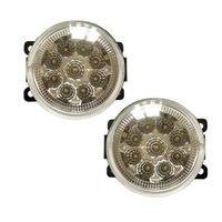 For Peugeot 206 206+ 207 208 307 308 9 Pieces Leds Chips LED Fog Light Lamp H11 H8 12V 55W Halogen Fog Lights Car Styling