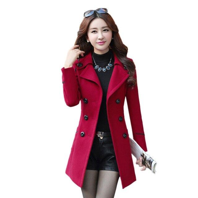 B1452 2019 весна осень зима новый хан издание с толстой смеси пальто для женщин длинный абзац чистый цвет cultivate one's morality