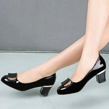 Sapatos femininos de salto alto sapatos femininos de salto alto quadrados bombas de salto alto sapatos femininos ol senhora do escritório 67h42Sapatos femininos