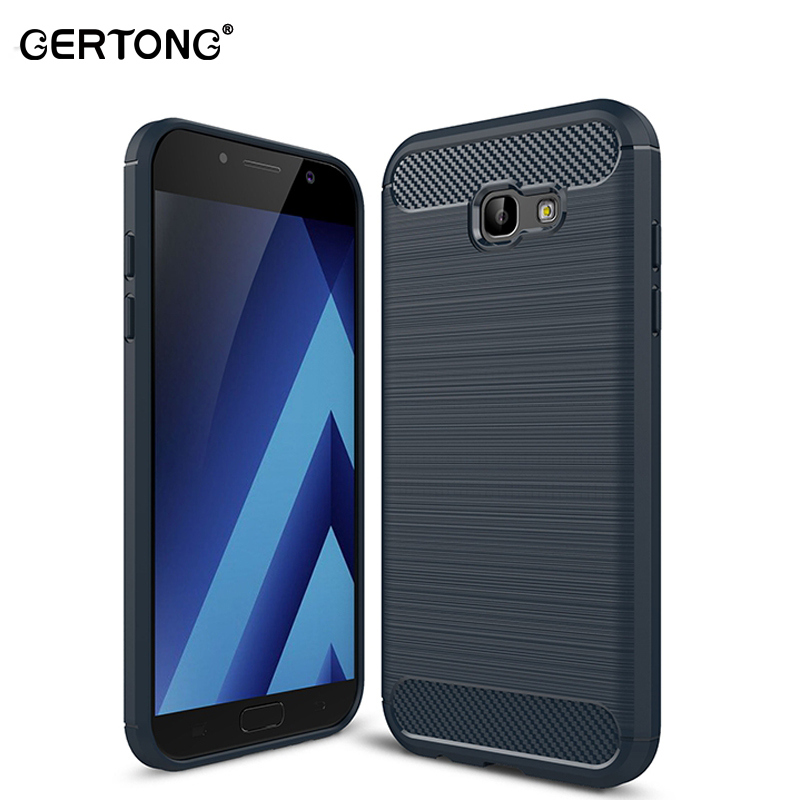 GerTong Carbon Fiber Phone Case for Samsung Galaxy J7 J5 J3 2017 Eurasian Version A3 2015 2016 A5 A7 2018 Back Cover Housing