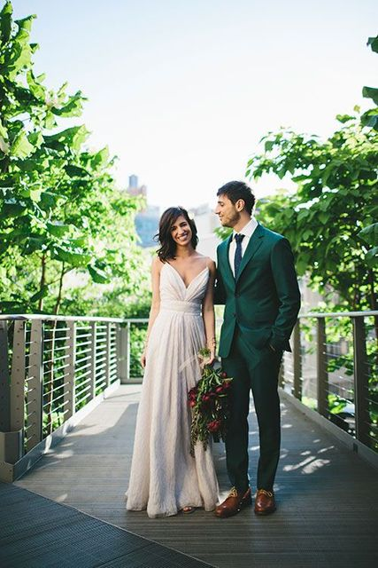 2017 Latest Coat Pant Design Green Wedding Men Suit Slim Fit 2 Piece Tuxedo Custom Blazer
