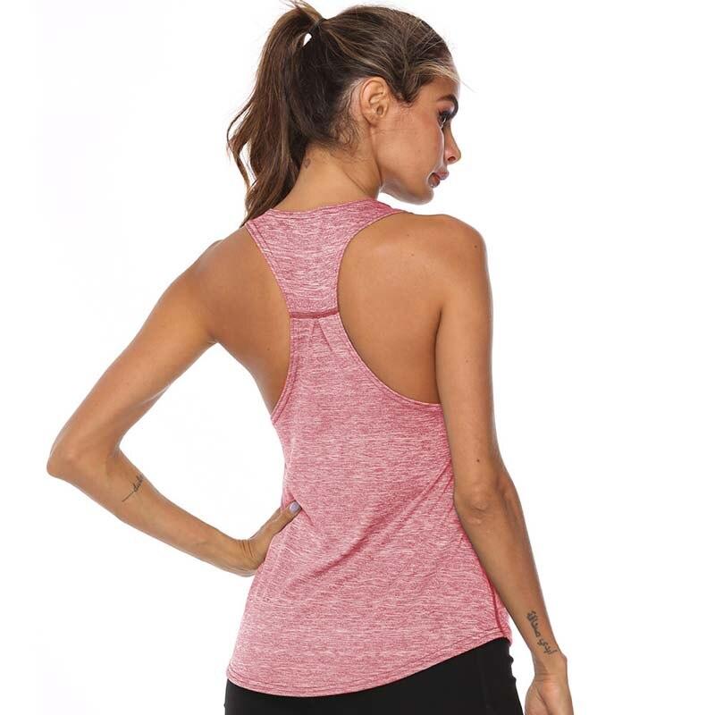 running - VEQKING Sleeveless Racerback Running Vest Sport Singlet Women Athletic Fitness Sport Tank Tops Gym Training Yoga Running Shirts