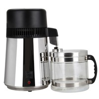 (Ship from EU) High Quality 4L Pure Water Stainless Steel Water Distiller Purifier Body Filter with Glass Jar
