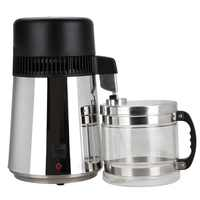High Quality 4L Pure Water Stainless Steel Water Distiller Purifier Body Filter with Glass Jar