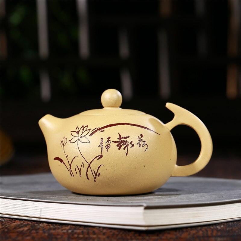 280ml Chinese Kungfu Ceramic teapot Yixing Zisha tea pot purple clay teapot pu'er black tea gift Wholesale Free shipping