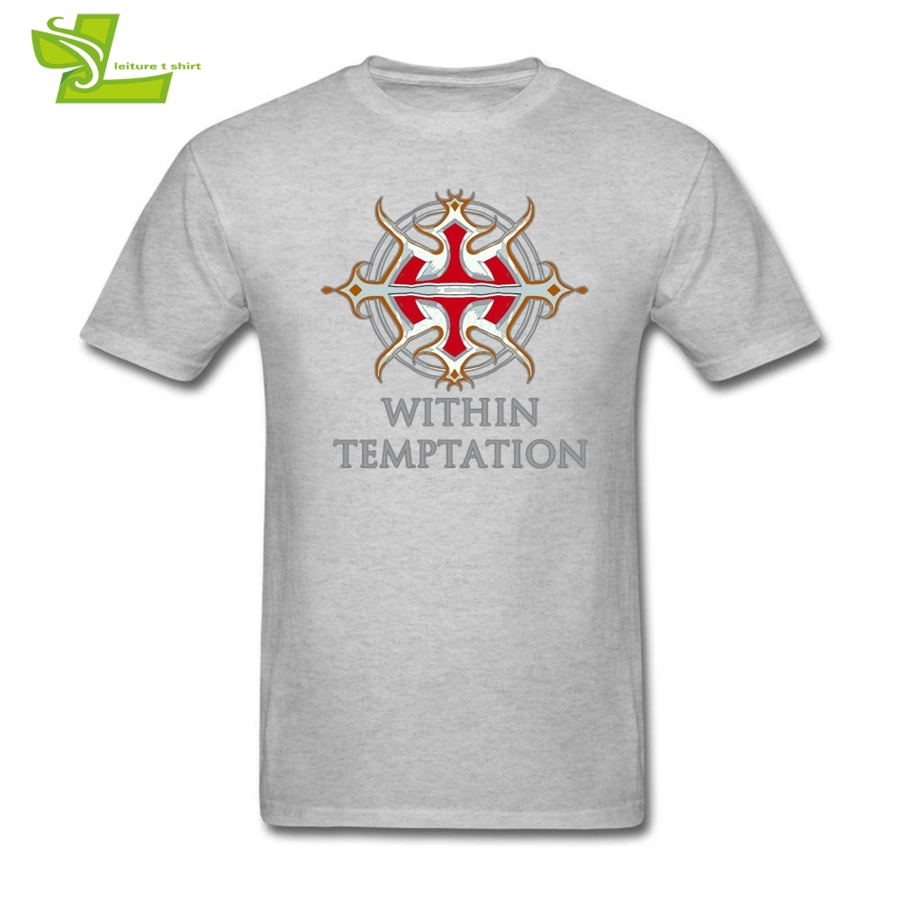 Within Temptation Logo Male T Shirt Fashion Classic Loose Tops Boy Summer Round Neck Tees Teenage Latest Unique Tee Shirt Music