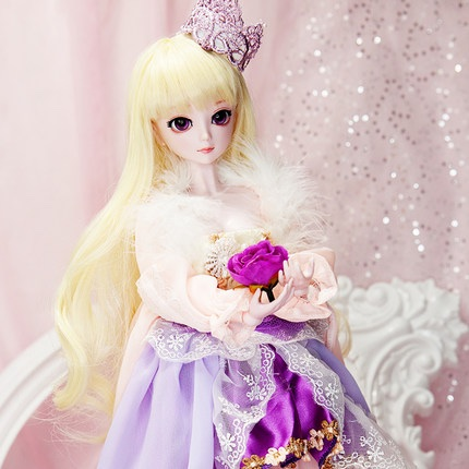 ФОТО 50cm Large BJD Doll Toys Cosplay Rapunzel  dress  full set Fashion SD Doll Princess Resin Joints Toys For Girl