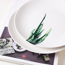 Green Plants Printed Plates
