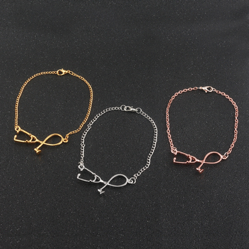 3 colour Fashion stethoscope Girls charm Bracelets & Bangles Doctors and Nurses Gifts Jewelry