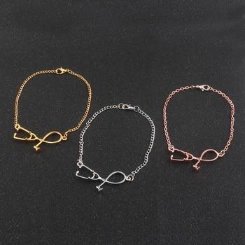 3 colour Fashion stethoscope Girls charm Bracelets & Bangles Doctors and Nurses Gifts Jewelry