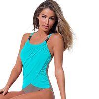 4XL Plus Size Swimwear Women 1 One Piece Swimsuit Sling Beach Wear 2017 Solid Monokini Large