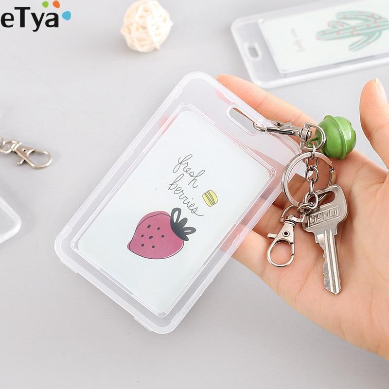 Bus Name Case Card Holder 1Pcs Portable Plastic Cartoon ID //Credit