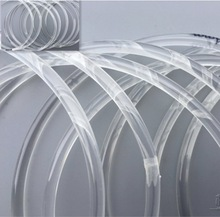 10Meters/Lot  Diameter:5mm PU Transparent Round Belt Drive Conveyor white food belt