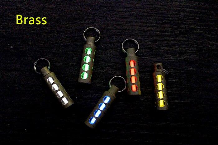 Cylinder Copper Tritium Gas Tritium Lamp EDC Fluorescent Key Ring Pendant Signal Light EDC Multi Tools in Outdoor Tools from Sports Entertainment