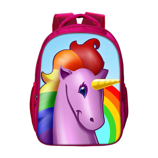 Colorful Unicorn Backpacks For Women Fashion Teenager Girls Red ...