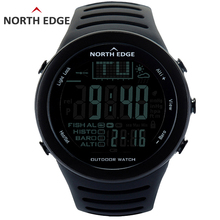 NORTHEDGE Men Digital watches outdoor watch clock Fishing weather Altimeter Barometer Thermometer Altitude Climbing Hiking hours sunroad fishing barometer watch fr720a men altimeter thermometer weather forecast 50m waterproof stopwatch smart watch black