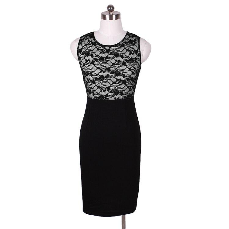 Lace Sleeveless Bodycon Pencil Dress 1