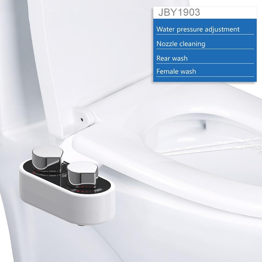 Hot /& Cold Water Bidet Men and Women Temperature Control |Adjustable Dual-Nozzle KOHi Bidet Non-Electric Toilet Attachment Water Pressure Control Self Cleaning Nozzle