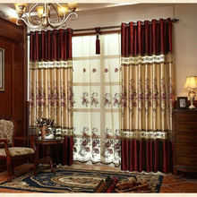 European luxury embroidered velvet stitching blackout curtains for living room curtain kitchen bedroom window curtains custom european luxury purple embroidered blackout curtains for bedroom window curtain living room window curtain kitchen hotel