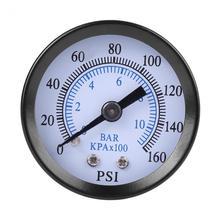 Точный измеритель давления для топлива воздуха масла воды 0-160psi/0-10bar 1/8