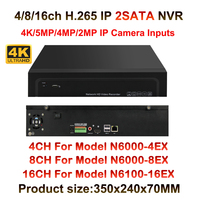 4K 5MP 4MP 3MP 2MP Onvif HD Digital 4CH 8CH 16CH H 265 CCTV NVR Security