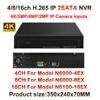 4K 5MP 4MP 3MP 2MP Onvif HD Digital 4CH 8CH 16CH H 265 CCTV NVR Security