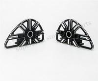 Motorcycle Black CNC Rear Passenger Footpeg Floorboards For Harley FLH FLST FLD Parts 86 15