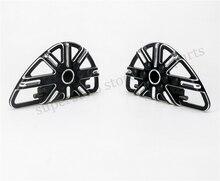 Мотоцикл Черный ЧПУ Заднего Пассажирского подножек Доски Для Harley FLH FLST FLD Частей 86-15