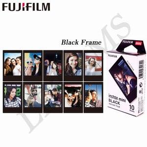 Image 3 - Fujifilm papel fotográfico de película instantánea con marco negro para Instax Mini 8, 9, 11, 7s, 25, 50s, 90, SP 1, 2, 10 hojas