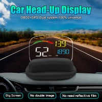 C800 Head up Display OBD2 II GPS Overspeed Warning System Projector Windshield Car Electronic Voltage Alarm For Cars