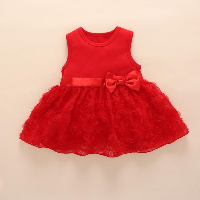 7cd87a9baa026 Bébé fille 1st d anniversaire princesse robe rose infantile enfants baptême  parti robes pour les