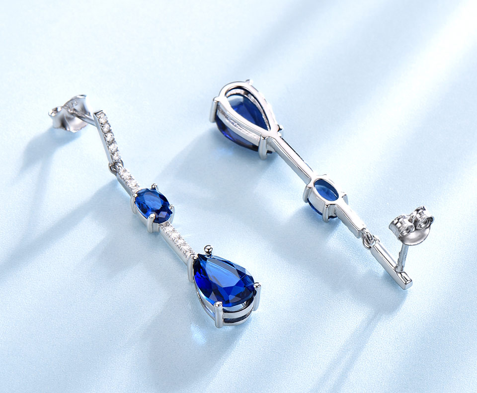 Honyy-solid sterling silver earrings for women EUJ068S-1 (10)
