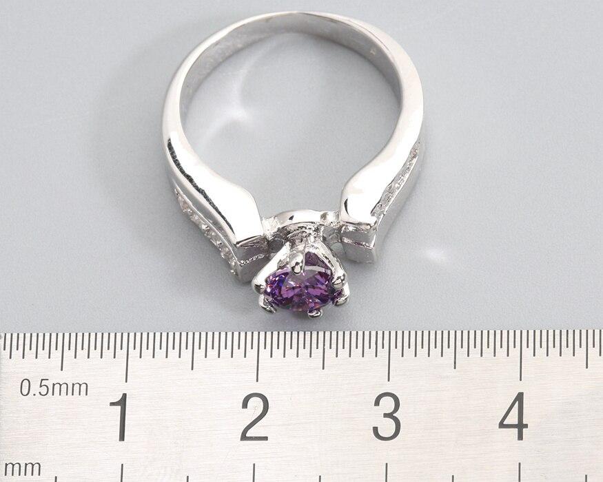 Brave Red Garnet 6*6mm Semi-precious Stone Silver Cool For Women Ring Q1444