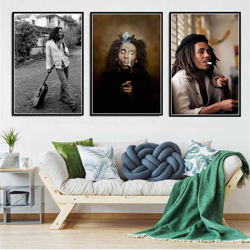 Bob Marley Singer Star RIP Poster Wall Art Picture Posters and Prints Canvas Painting for Room Home Decor