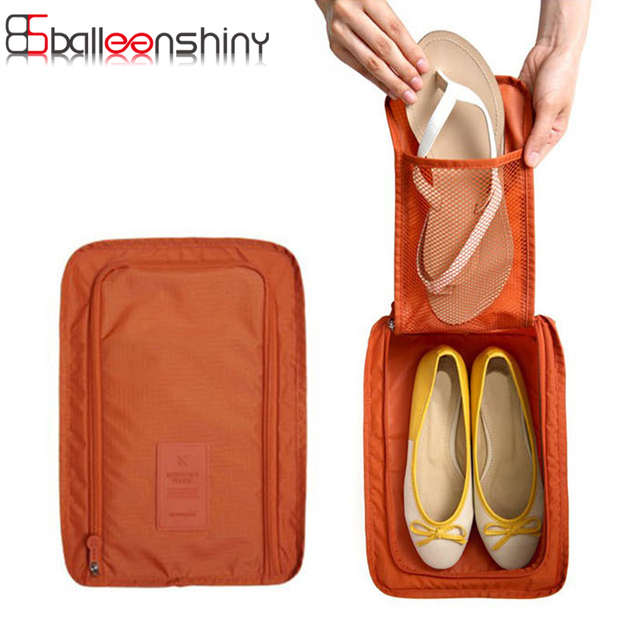 114c60cff85f US $4.22 15% OFF|BalleenShiny Shoes Storage Bag Organizer Travel Portable  Shoes Pouch Waterproof Slippers Tote Organiser 21 x 30 x 11cm-in Storage ...