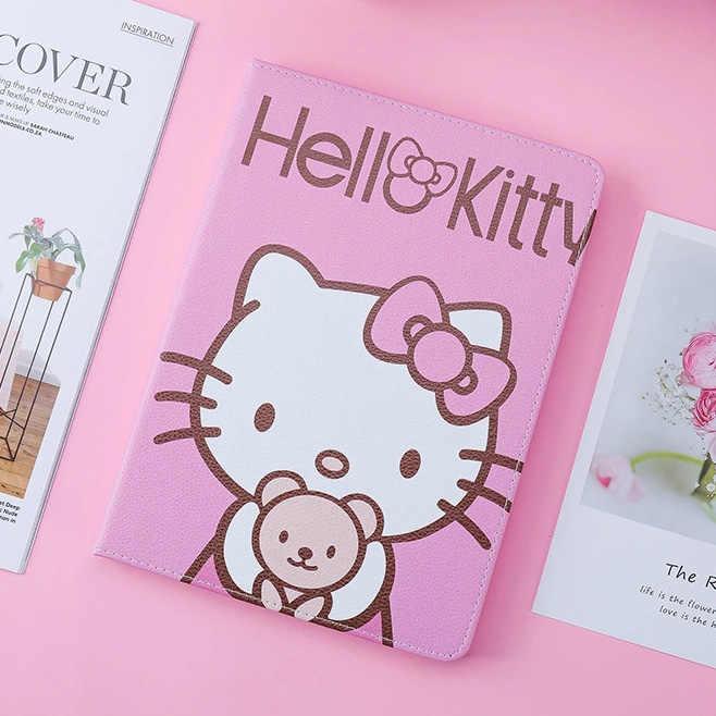 حافظة لجهاز ipad 2 3 4 air1 2 من نوع Hello Kitty فاخرة ونحيفة للغاية لهواتف ipad 2 3 4 air1 2 حافظة لجهاز ipad 9.7 الجديد