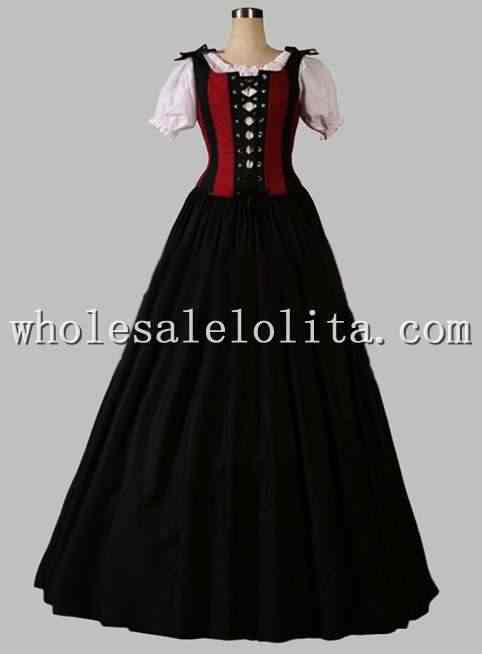 Detail Feedback Questions about 19th Century Black and Red Victorian Era  Dress Blouse Included on Aliexpress.com  32002b2f22c7